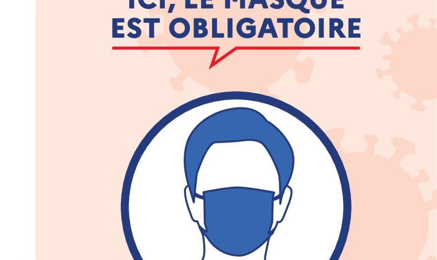 Aux abords des écoles également : obligation de port du masque dans certains lieux publics du département